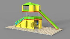 3D playground model