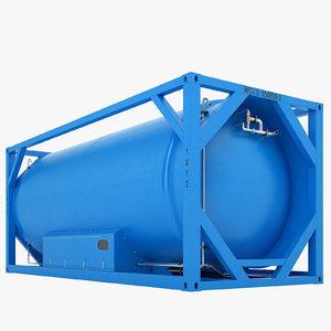 liquefied natural gas 3D model