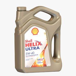 shell helix oil bottle 3D model