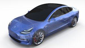 tesla 3 chassis model