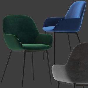 3D linea furniture silas dinning model
