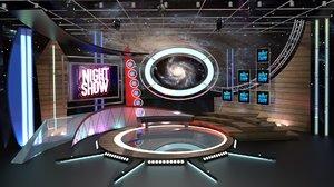 3D model tv studio