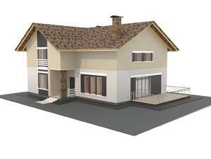 3D private house revit