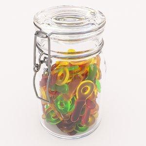 candy jar fuppie 3D model