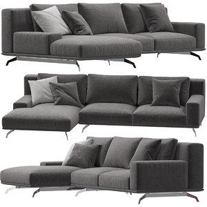 3D ditreitalia dalton sofa model