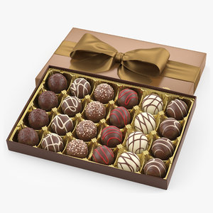3D model signature chocolate truffles box