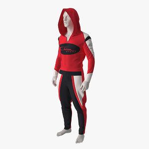 3D model sci fi sport suit