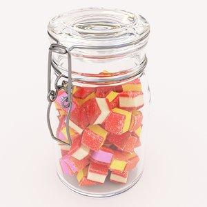 candy jar hamburger speck model