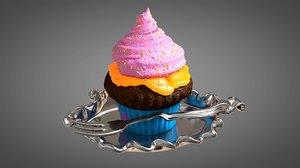 3D model muffin cream