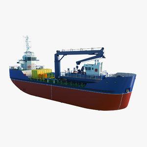3D salvage cargo ship skimmer