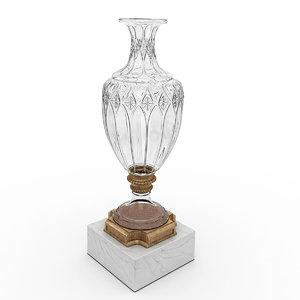vase french baccarat 3D model