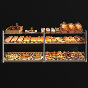 viennoiseries showcase 3D
