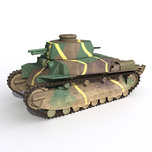 tank type 89 3D model