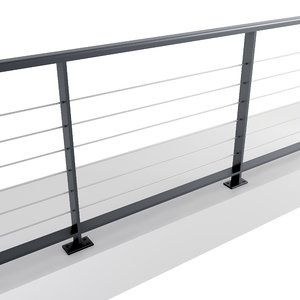 3D model stainless steel iron railing
