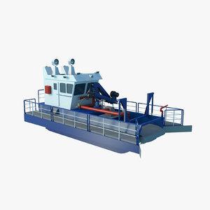 3D trash skimmer boat model
