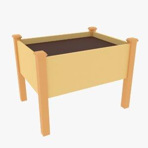 elevated planter box 3D model