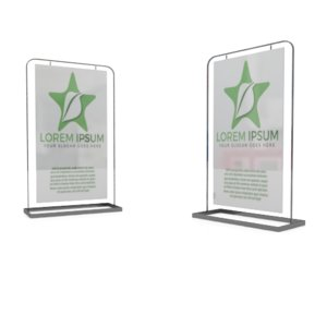 simple metal poster stand 3D model