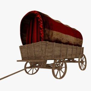 old vagon 3D model
