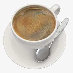 3d black coffee