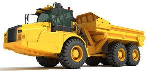 3D model articulated truck
