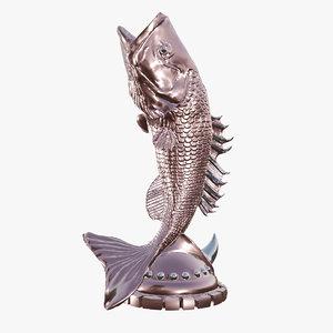 fish statue 3D