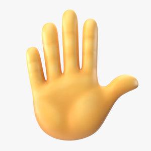 raised hand emoji 3D