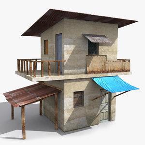 3D ready old house slum