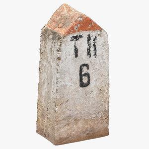 concrete sign 01 3D