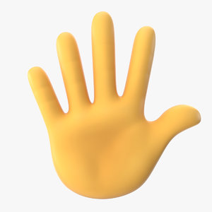 hand fingers splayed emoji 3D model