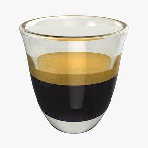 realistic espresso shot 3D model