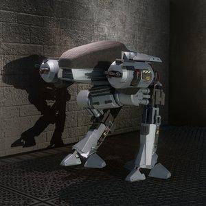 ed-209 robocop 3D