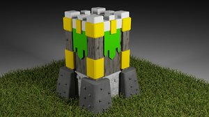 archer tower version model