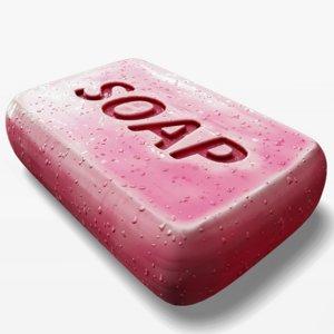 soap wet dry 3D model