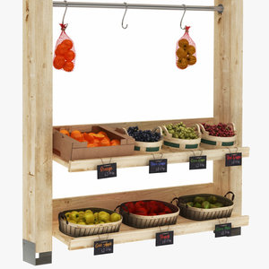 greengrocer rack 4 box model