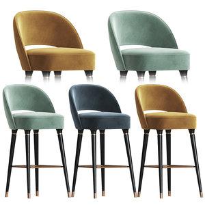 3D model collins bar chair essential