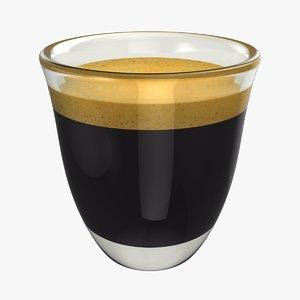 3D realistic espresso double shot