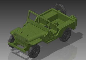 wwii willys jeep 1 3D model