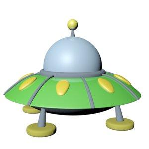 3D flying saucer cartoon model