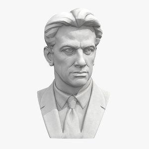 3D mayakovsky soviet poet