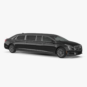 3D limousine cadillac ss 70 model