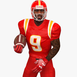 rigged football player 2020 3D model