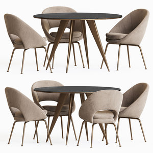 3D arden dining table chair