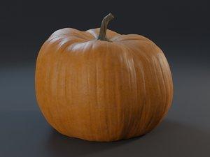 realistic pumpkin 3D model