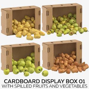 3D cardboard display box 01