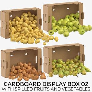 cardboard display box 02 model
