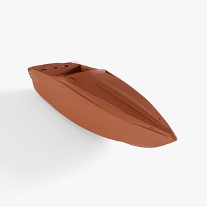 3D model go-fast boat