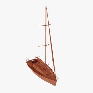 3D model sail boat