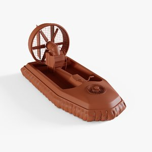 hovercraft boat 3D model