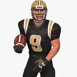 3D model rigged football player 2020