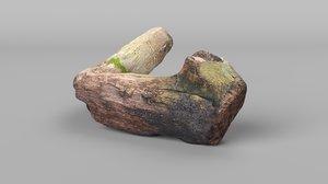 3D curved log model